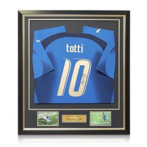 Framed Francesco Totti Signed Italy Shirt