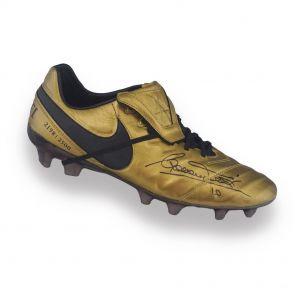 Francesco Totti Signed Nike Tiempo Legend Football Boots: X Totti Roma