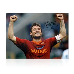 Francesco Totti Signed AS Roma Photo: The Roman Emperor In Gift Box