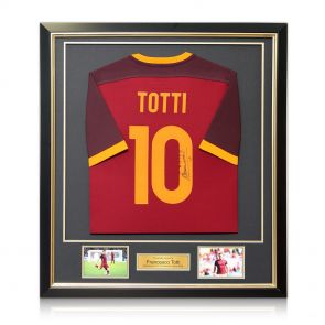 Framed Francesco Totti Signed Roma Shirt