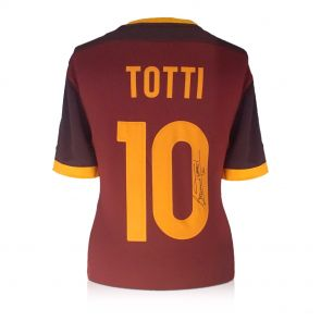 Francesco Totti Signed AS Roma 2015-16 Home Shirt In Gift Box
