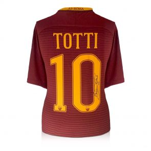 Francesco Totti Signed AS Roma 2016-17 Home Shirt: The Final Season In Gift Box