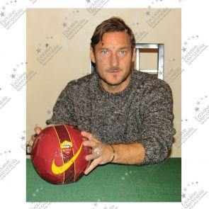 Francesco Totti Signed AS Roma Football