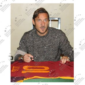 Francesco Totti Signed AS Roma Authentic Football Shirt 2015-16