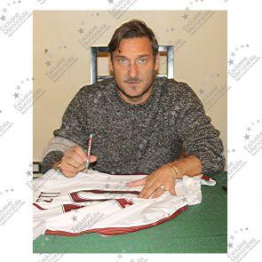 Francesco Totti Signed AS Roma 2016-17 Away Shirt: The Final Season. Framed