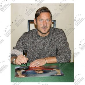 Francesco Totti Signed AS Roma Photo: The Roman Emperor. In Deluxe Frame