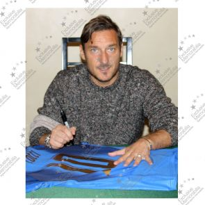 Francesco Totti Signed Italy 2006 World Cup Winners Football Shirt In Gift Box