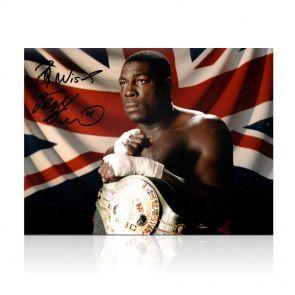 Frank Bruno Signed Boxing Photo: WBC World Heavyweight Champion In Gift Box