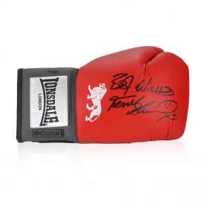 Frank Bruno Signed Boxing Glove In Display Case