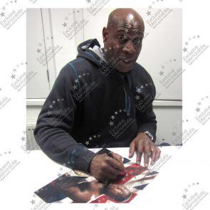 Frank Bruno Signed Boxing Photo: WBC World Heavyweight Champion