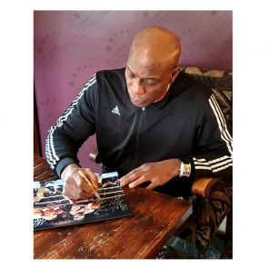 Mike Tyson And Frank Bruno Signed Boxing Photo. Damaged A