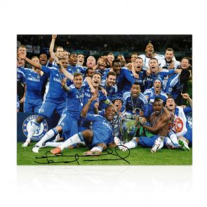 Frank Lampard Signed Chelsea Football Photo: The Winning Team