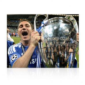 Frank Lampard Signed Chelsea Football Photo: Champions League Winner