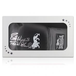 Frank Bruno Signed Black Boxing Glove With Black Cuff. In Gift Box
