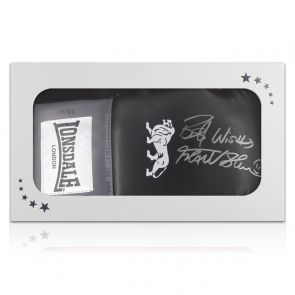 Frank Bruno Signed Black Boxing Glove. In Gift Box