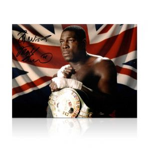 Frank Bruno Signed Boxing Photo: The WBC World Heavyweight Champion