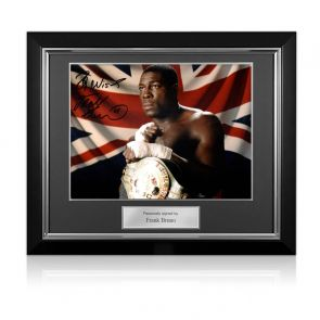 Frank Bruno Signed Boxing Photo: The WBC World Heavyweight Champion. Deluxe Frame