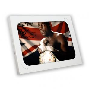 Frank Bruno Signed Boxing Photo: The WBC World Heavyweight Champion. In Gift Box