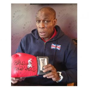 Frank Bruno Signed Red Boxing Glove. In Gift Box