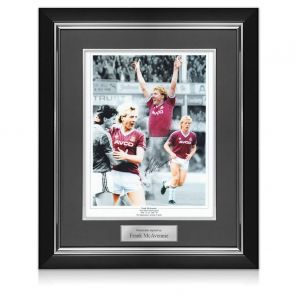 Frank McAvennie Signed West Ham Photo. Deluxe Frame