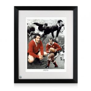 Gareth Edwards Signed Wales Rugby Photograph Framed