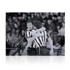 Paul Gascoigne And Peter Beardsley Signed Newcastle United Photo. In Gift Box