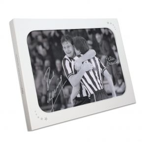 Paul Gascoigne and Peter Beardsley Signed Newcastle United Photo In Gift Box