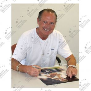 Paul Gascoigne Signed England Photograph: Gazza's Tears