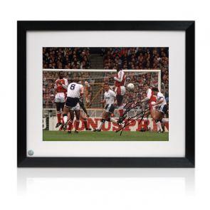 Paul Gascoigne Signed Photo: Arsenal Free-Kick. Framed