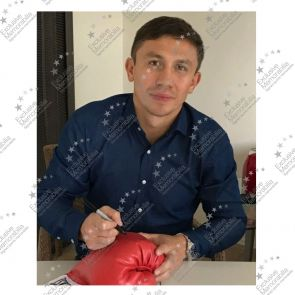 Gennady Golovkin Signed Red Everlast Boxing Glove