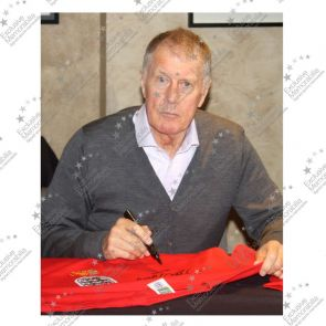 Geoff Hurst And Martin Peters Signed England 1966 Football Shirt. Standard Frame