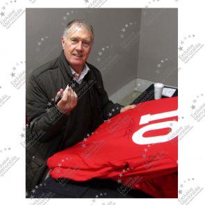 Sir Geoff Hurst Signed England Football Shirt: Number 10