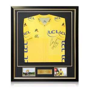 Geraint Thomas Signed Tour De France 2018 Yellow Jersey Framed