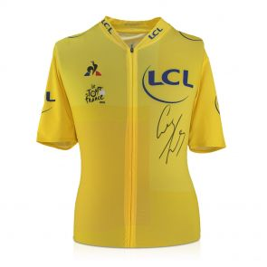 Geraint Thomas Signed Tour De France 2018 Yellow Jersey In Gift Box