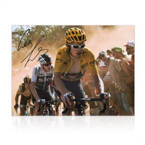 Geraint Thomas Signed Tour De France Photo: Dutch Corner In Gift Box