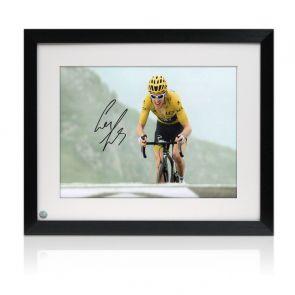 Geraint Thomas Signed Tour De France Photo: Stage 17. Framed