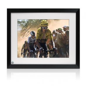 Geraint Thomas Signed Tour De France Photo: Dutch Corner. Framed