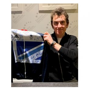 Team GB Signed London 2012 Olympics Cycling Jersey. Standard Frame