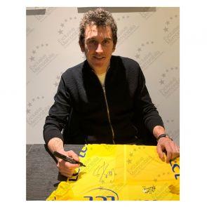 Geraint Thomas Signed Tour De France 2018 Yellow Jersey. Premium Frame