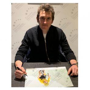 Geraint Thomas Signed Tour De France Photo: Stage 17. Deluxe Frame