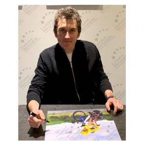 Geraint Thomas Signed Tour De France Cycling Photo: Time Trial Gift Box