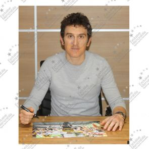 Geraint Thomas Signed Tour De France Photo: Alpe D'Huez Finishing Line