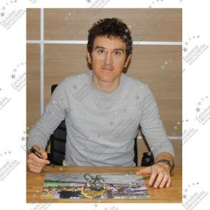 Geraint Thomas Signed Tour De France Photo: Winning On Alpe D'Huez. Deluxe Frame