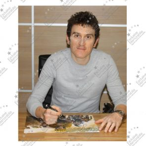 Geraint Thomas Signed Tour De France Photo: Dutch Corner. Deluxe Frame