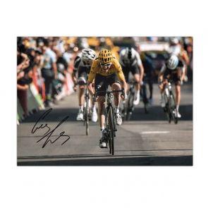 Geraint Thomas Signed Tour De France Photo: Alpe D'Huez Sprint
