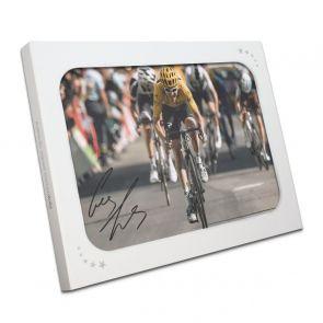 Geraint Thomas Signed Tour De France Photo: Alpe D'Huez Sprint Gift Box