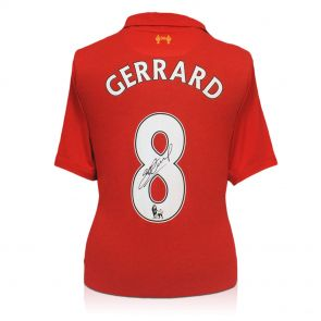 Steven Gerrard Signed Shirt 2012-13
