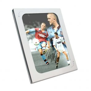 Julian Dicks Signed West Ham United Photograph In Gift Box