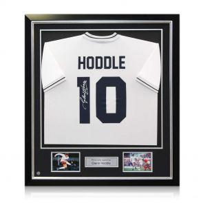 Deluxe Framed Glenn Hoddle Signed Tottenham Hotspur Shirt