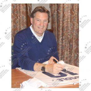 Framed Glenn Hoddle Signed Tottenham Hotspur Shirt: Number 10